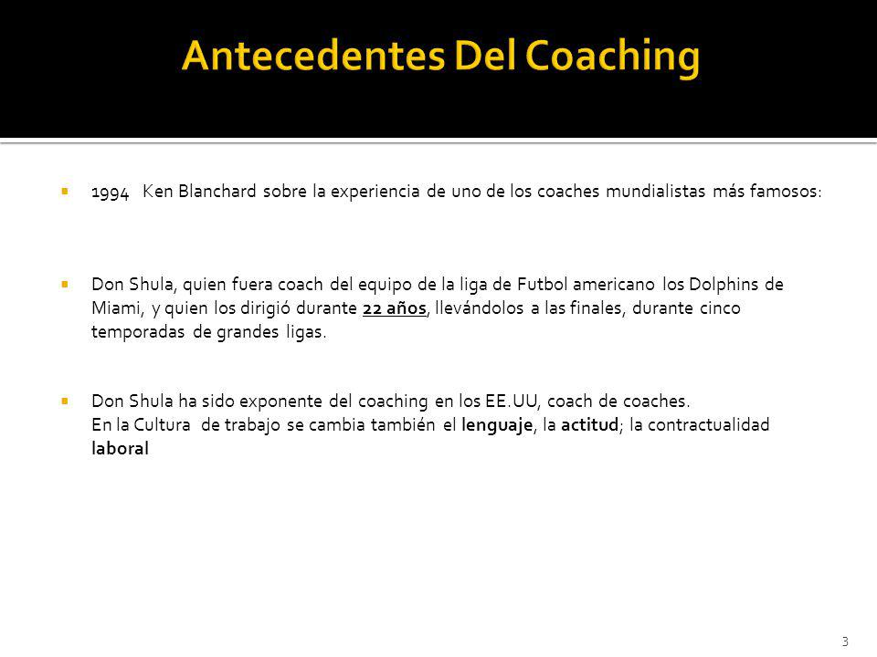 Antecedentes Del Coaching