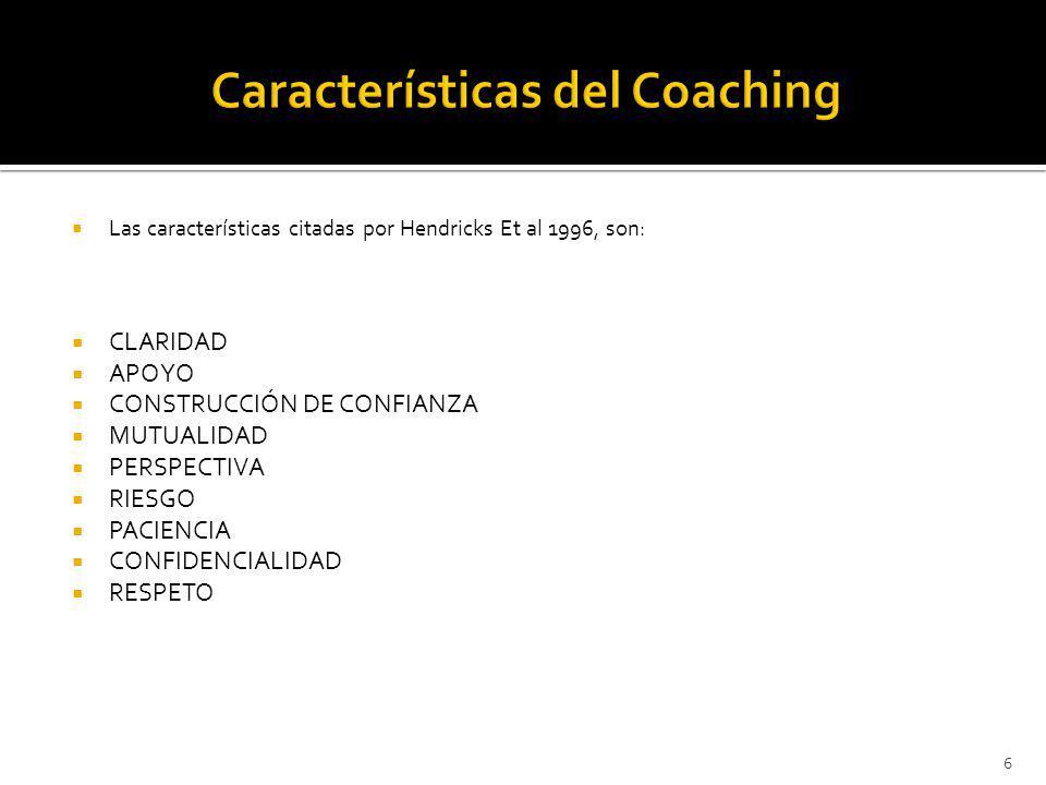 Características del Coaching