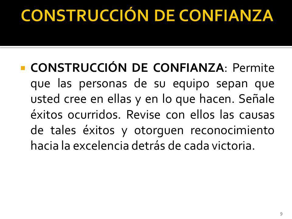 CONSTRUCCIÓN DE CONFIANZA