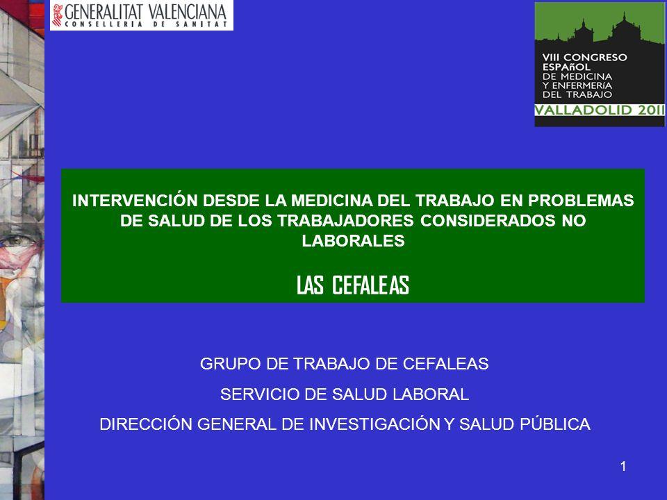 INTERVENCIÓN DESDE LA MEDICINA DEL TRABAJO EN PROBLEMAS DE SALUD DE LOS TRABAJADORES CONSIDERADOS NO LABORALES