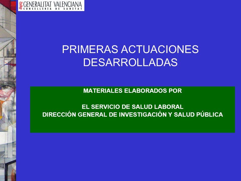 PRIMERAS ACTUACIONES DESARROLLADAS