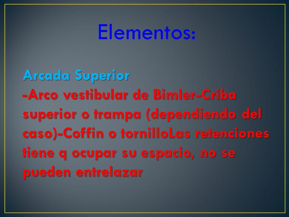 Elementos: Arcada Superior