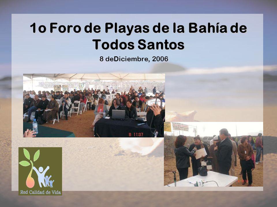 1o Foro de Playas de la Bahía de Todos Santos