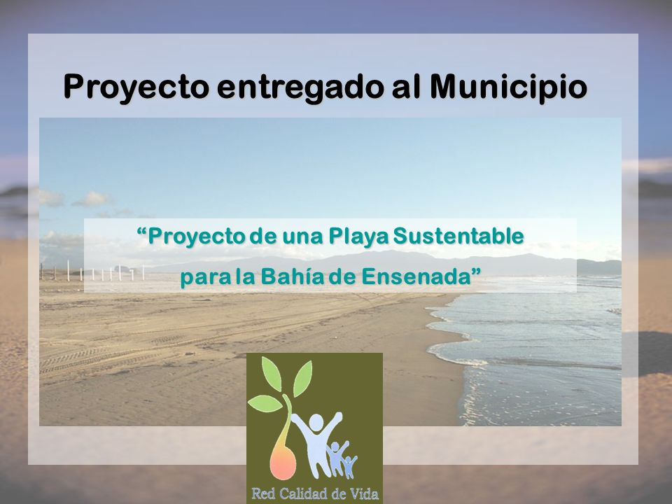 Proyecto entregado al Municipio
