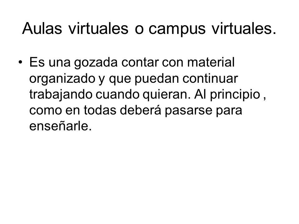 Aulas virtuales o campus virtuales.