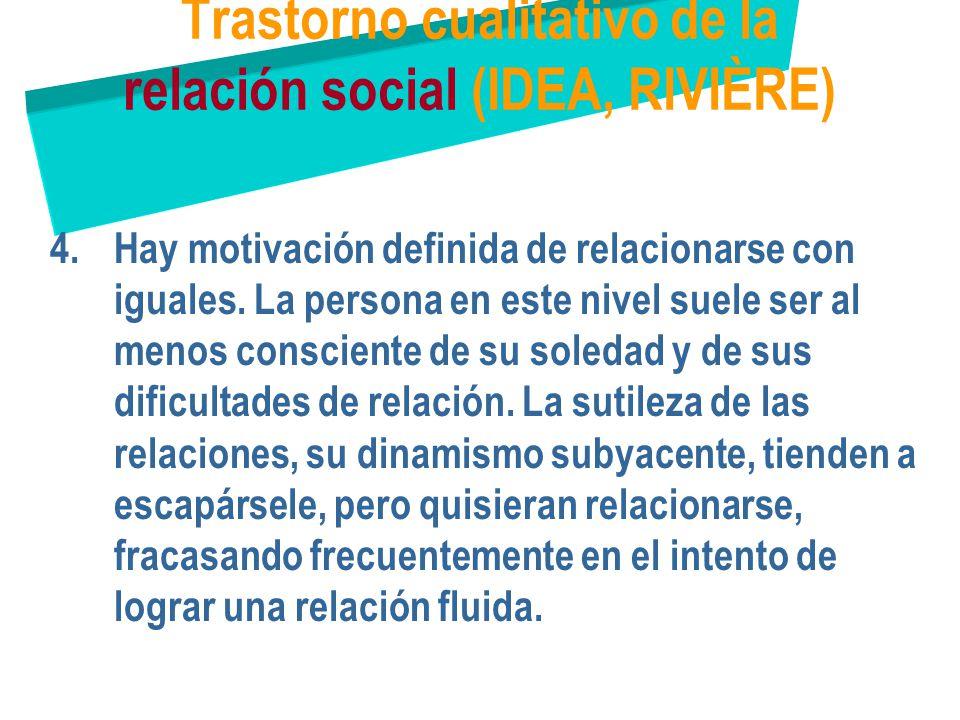 Trastorno cualitativo de la relación social (IDEA, RIVIÈRE)