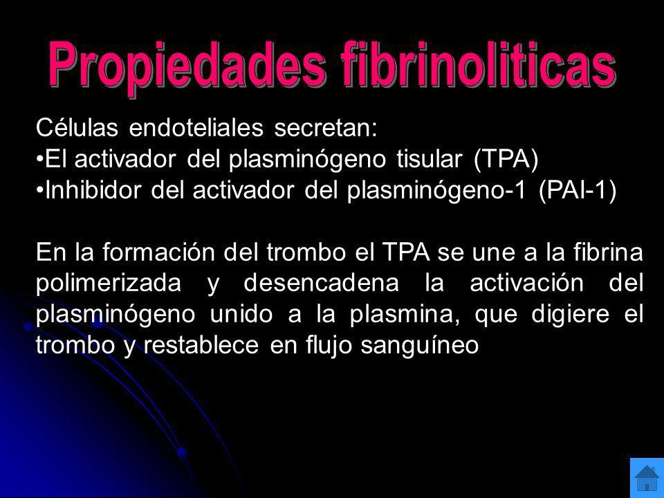 Propiedades fibrinoliticas