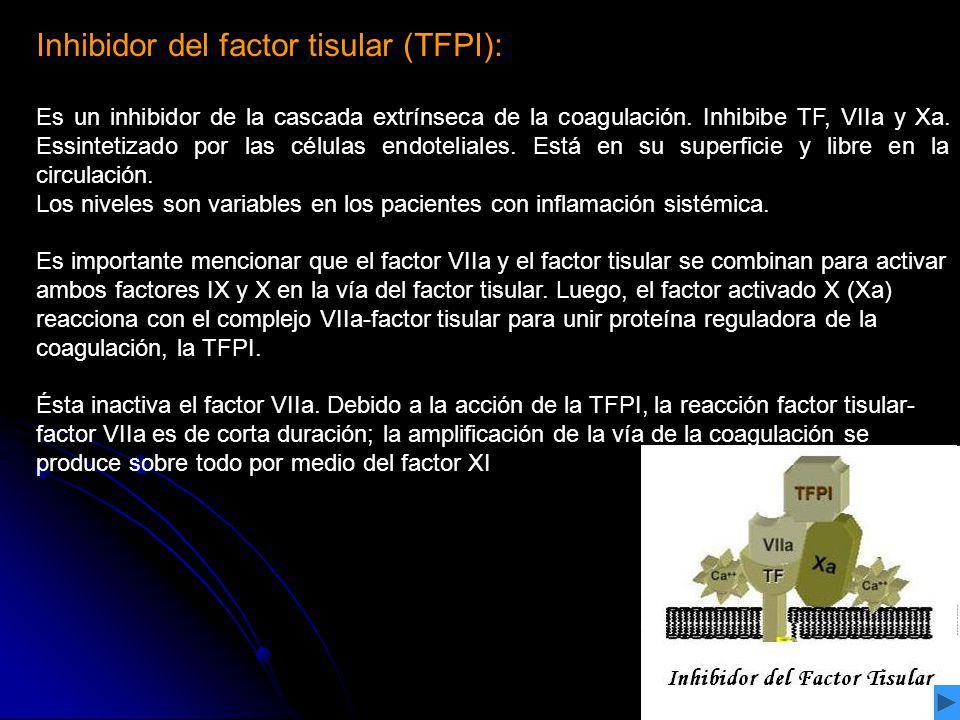 Inhibidor del factor tisular (TFPI):