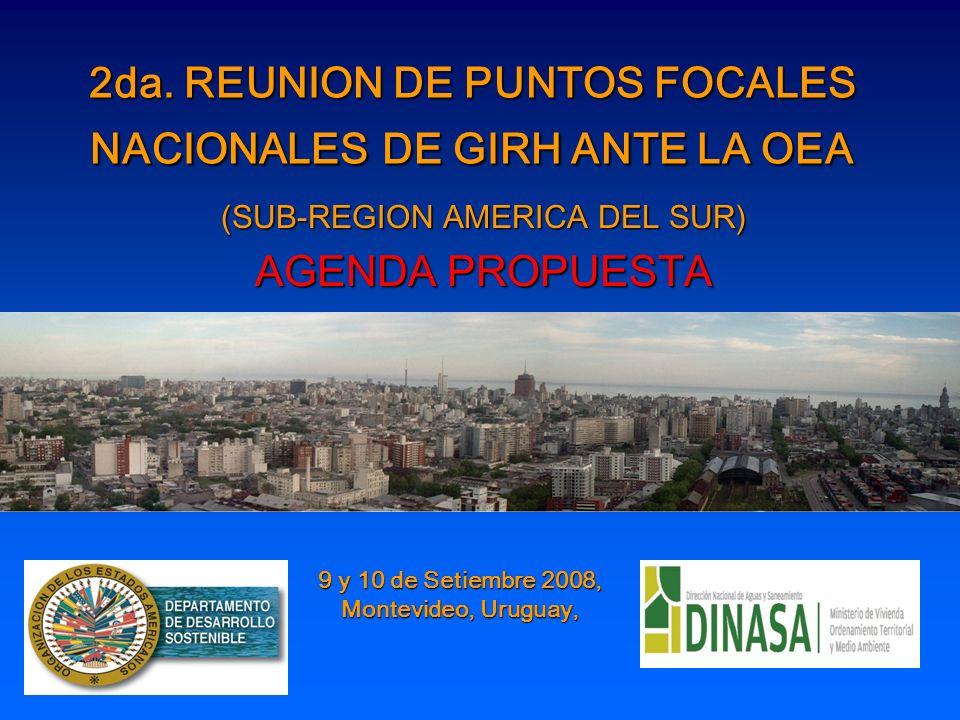 2da. REUNION DE PUNTOS FOCALES NACIONALES DE GIRH ANTE LA OEA