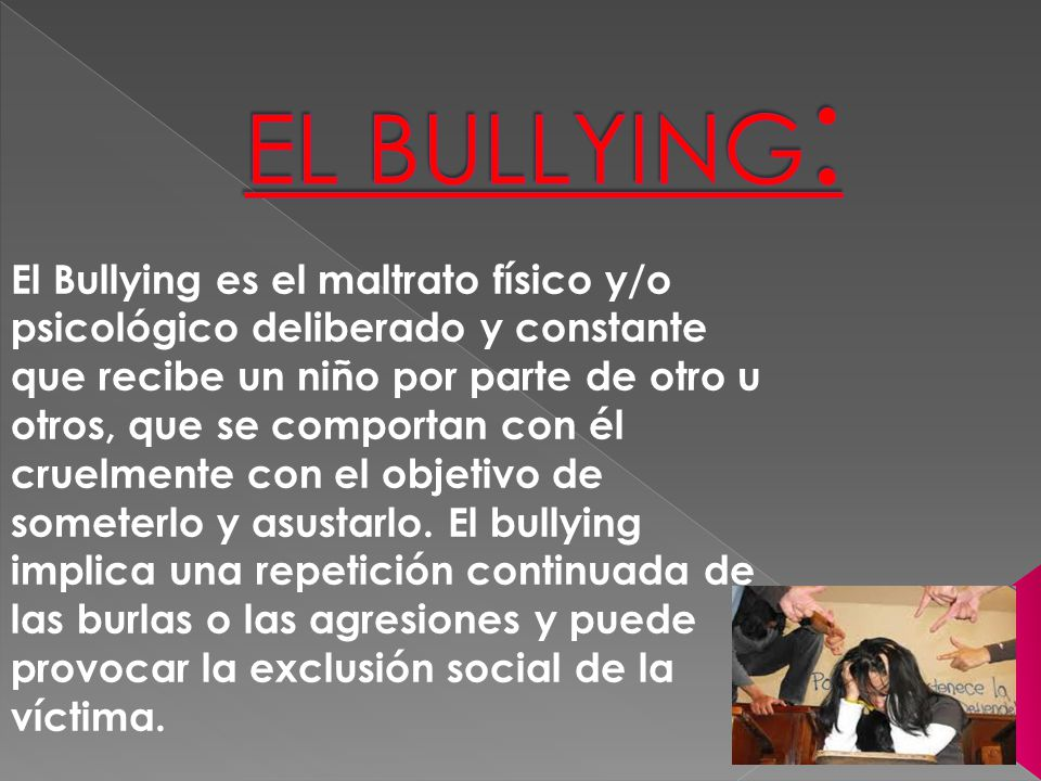 EL BULLYING: