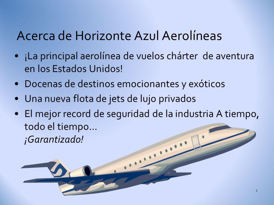 Acerca de Horizonte Azul Aerolíneas
