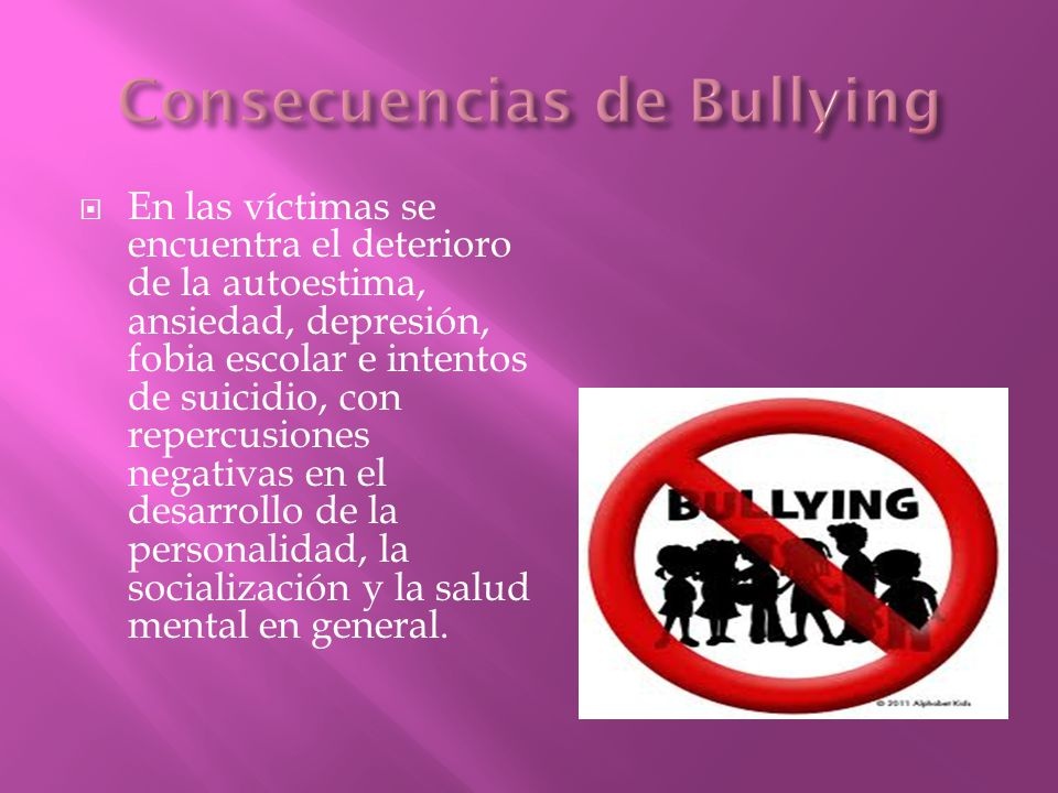 Consecuencias de Bullying