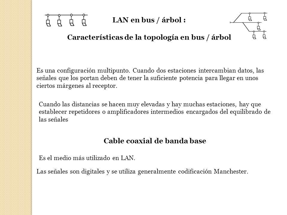 Características de la topología en bus / árbol