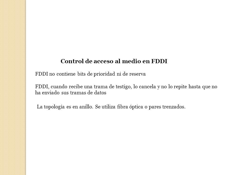 Control de acceso al medio en FDDI