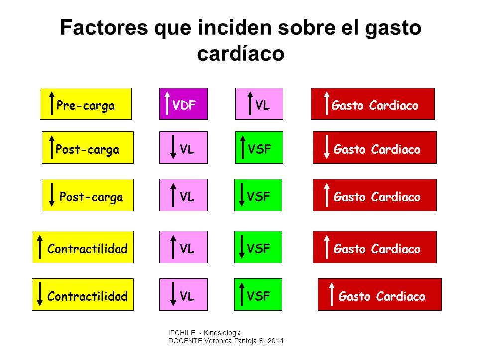 Factores que inciden sobre el gasto cardíaco