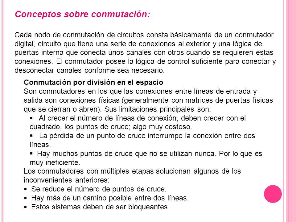 Conceptos sobre conmutación: