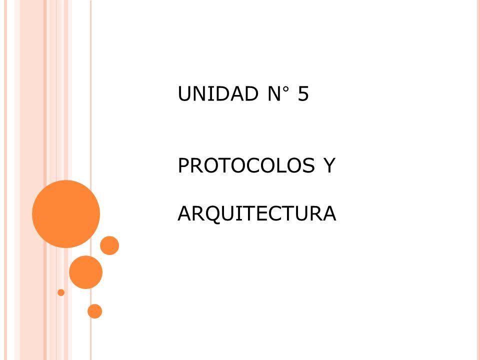UNIDAD N° 5 PROTOCOLOS Y ARQUITECTURA