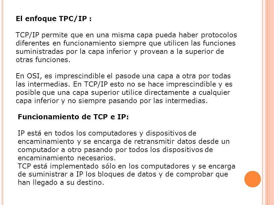 El enfoque TPC/IP :