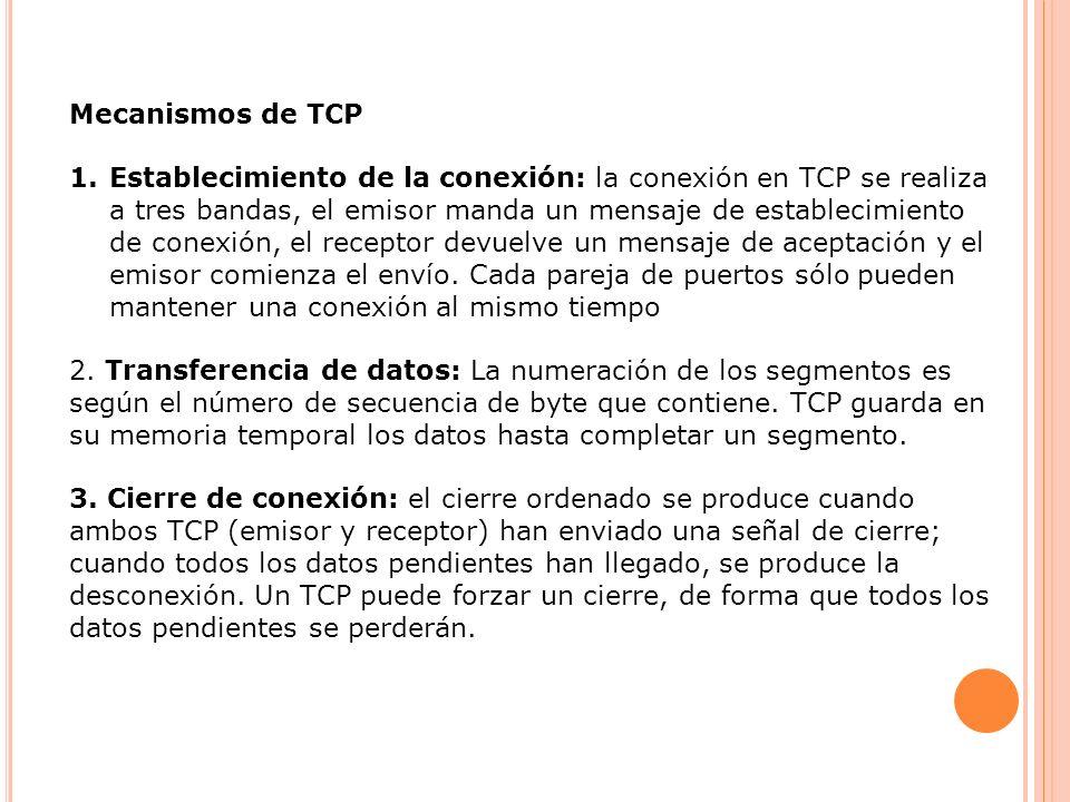 Mecanismos de TCP