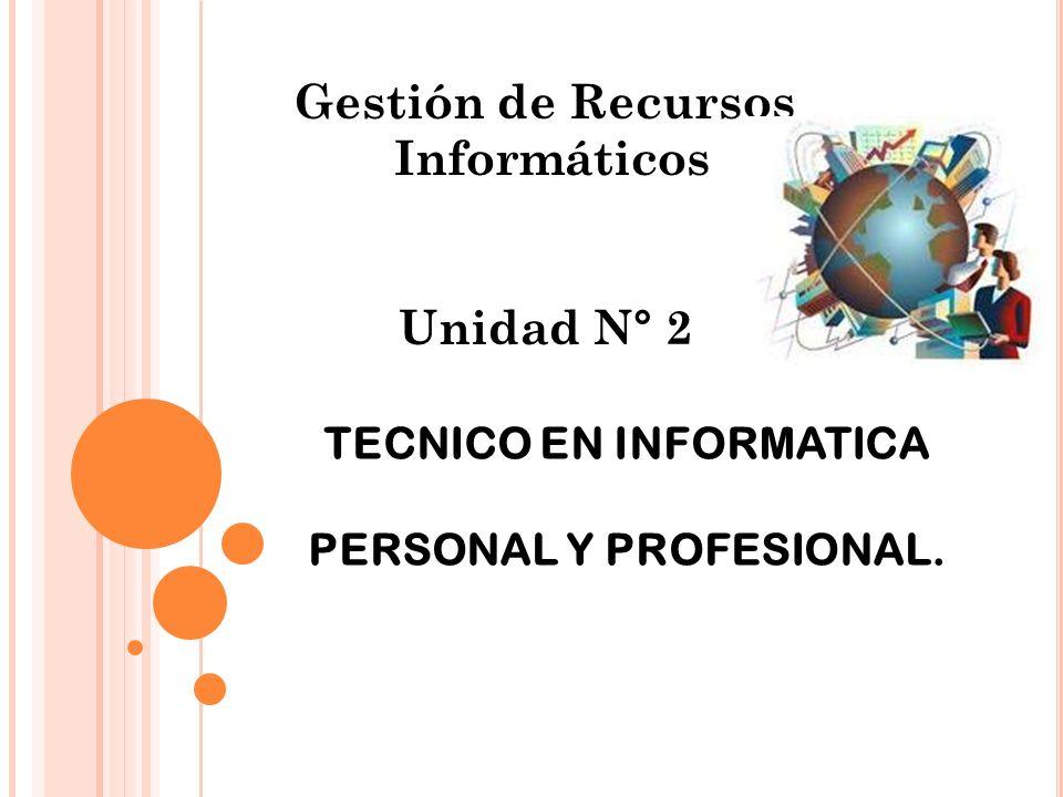 TECNICO EN INFORMATICA PERSONAL Y PROFESIONAL.