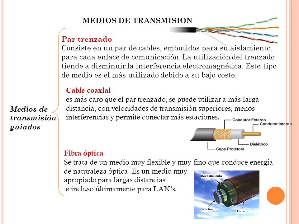 MEDIOS DE TRANSMISIONPar trenzado.