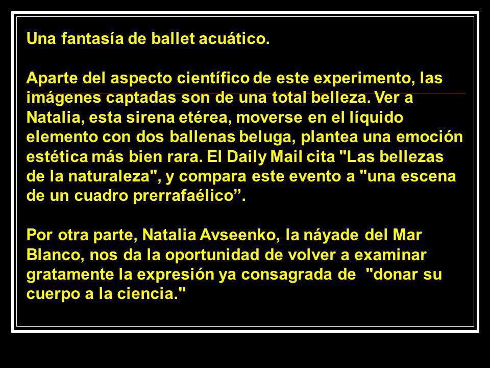 Una fantasía de ballet acuático.