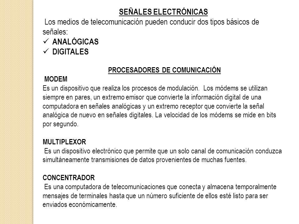 PROCESADORES DE COMUNICACIÓN