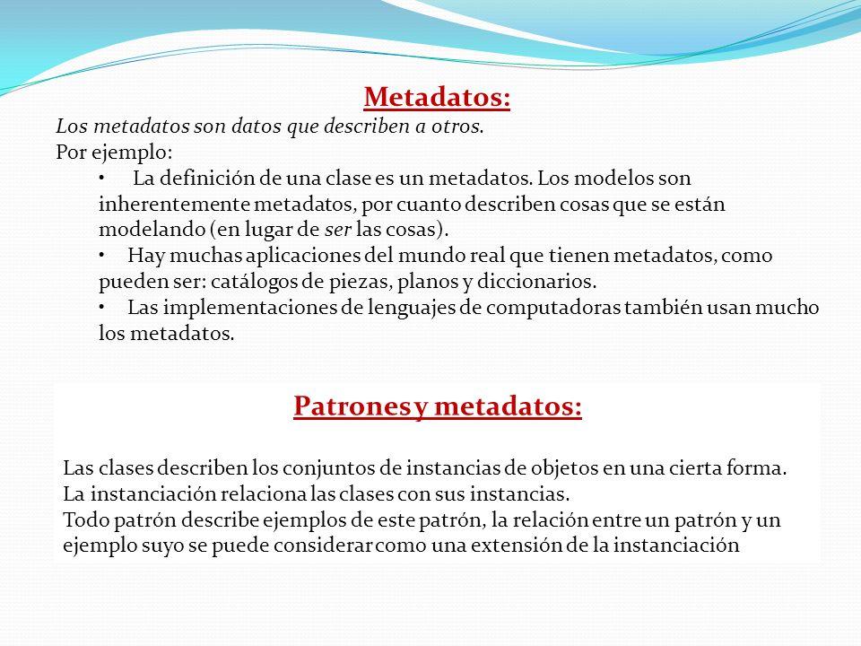 Metadatos: Patrones y metadatos: