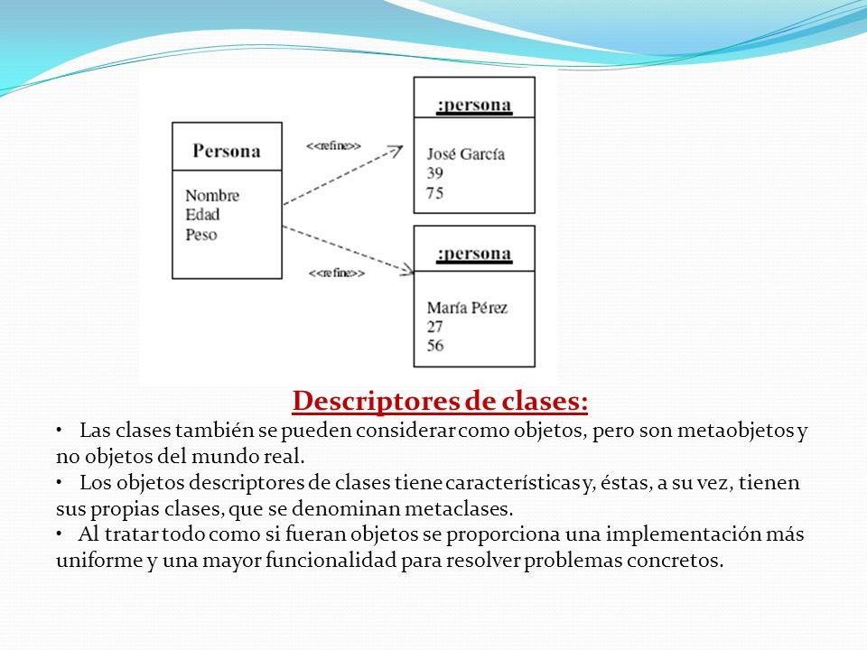 Descriptores de clases: