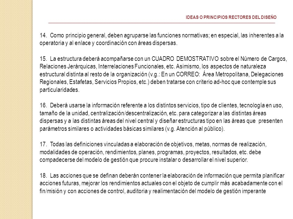 IDEAS O PRINCIPIOS RECTORES DEL DISEÑO