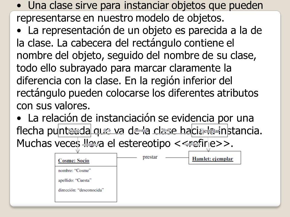 ¿Clase u Objeto Una clase sirve para instanciar objetos que pueden representarse en nuestro modelo de objetos.