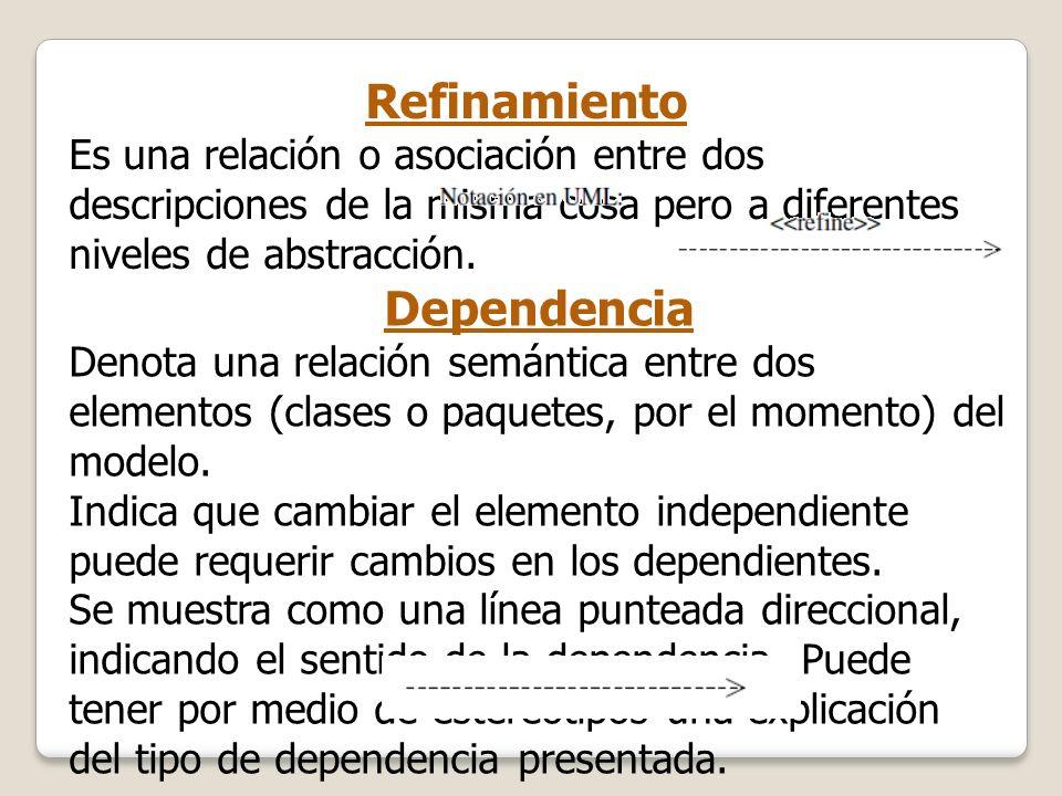 Refinamiento Dependencia