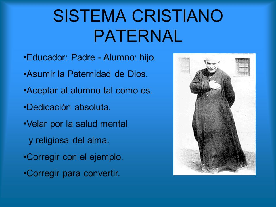 SISTEMA CRISTIANO PATERNAL