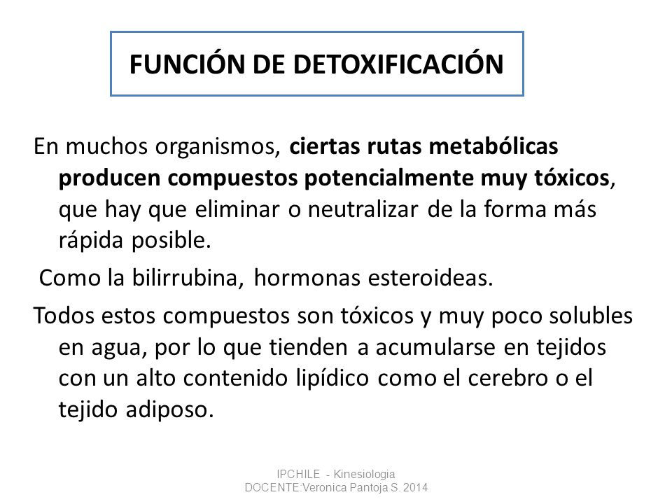 FUNCIÓN DE DETOXIFICACIÓN