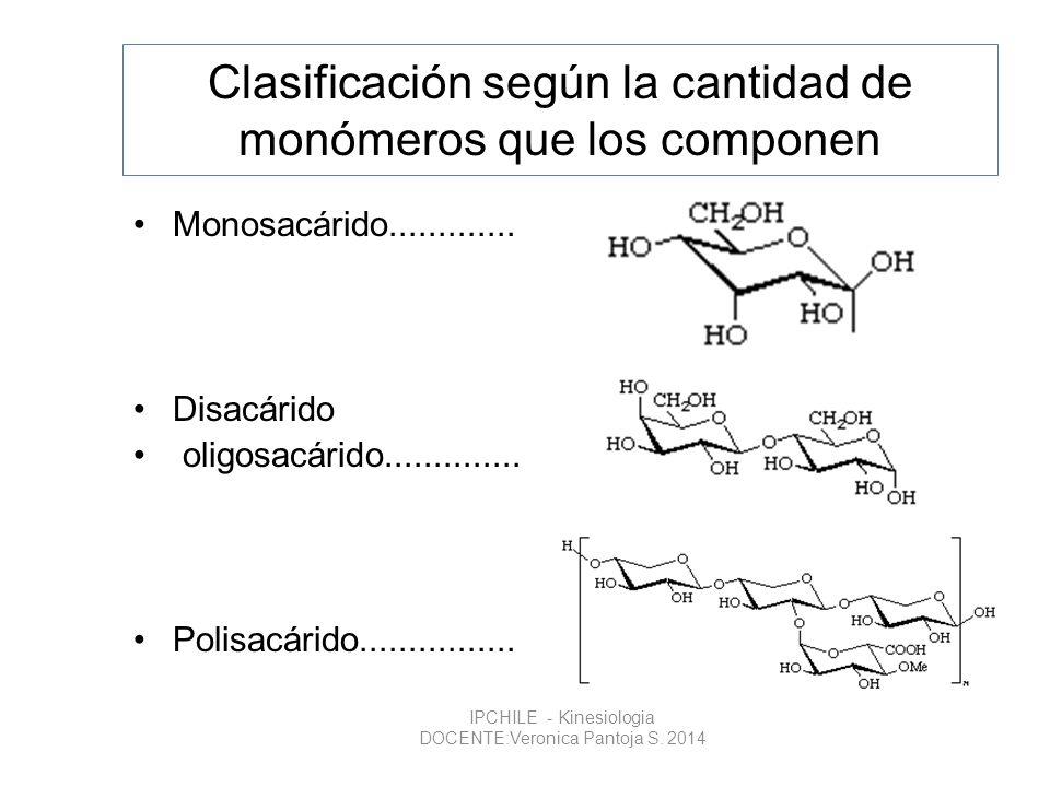 Clasificación según la cantidad de monómeros que los componen