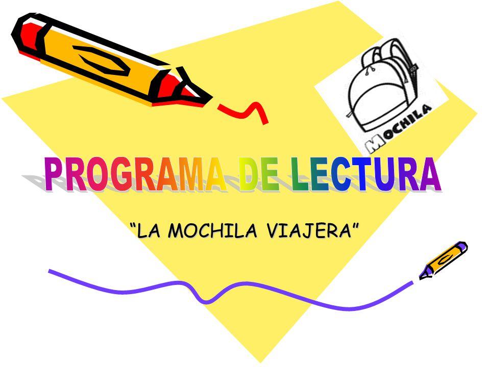 PROGRAMA DE LECTURA LA MOCHILA VIAJERA