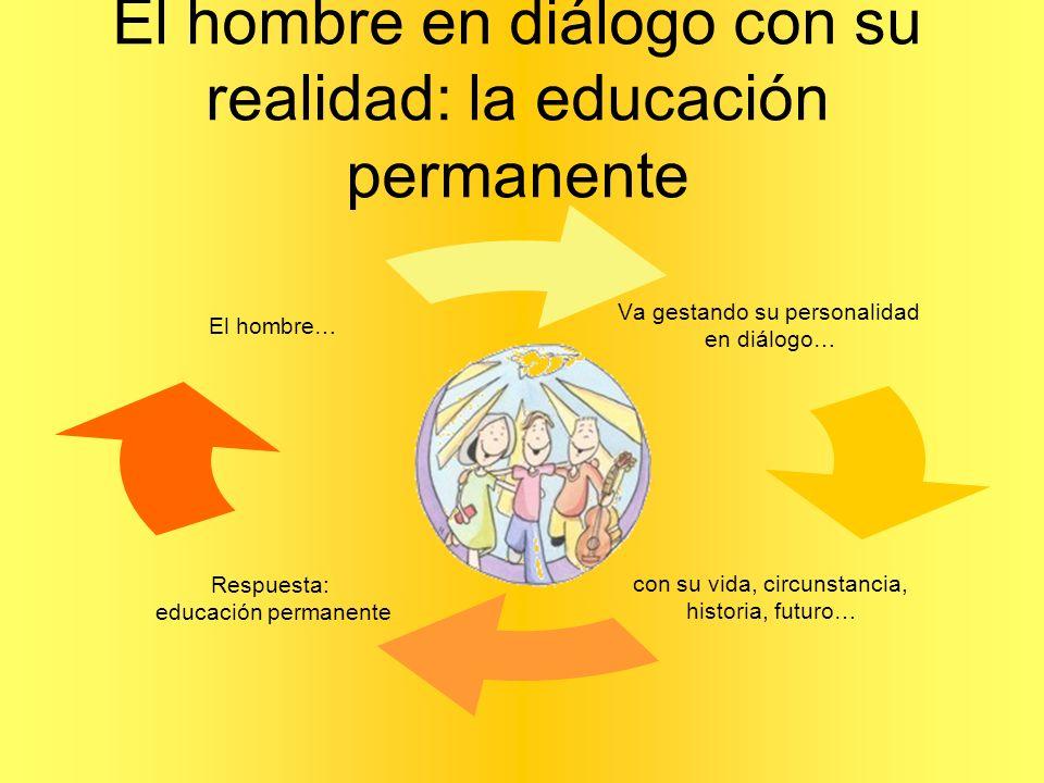 El hombre en diálogo con su realidad: la educación permanente