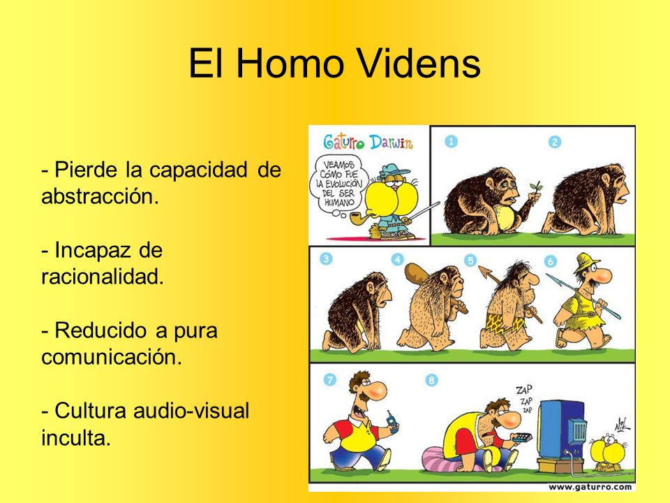 El Homo Videns - Pierde la capacidad de abstracción.