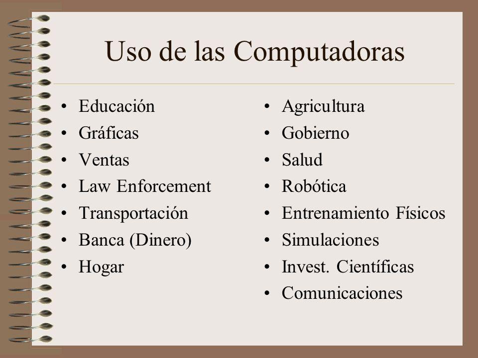 Uso de las Computadoras