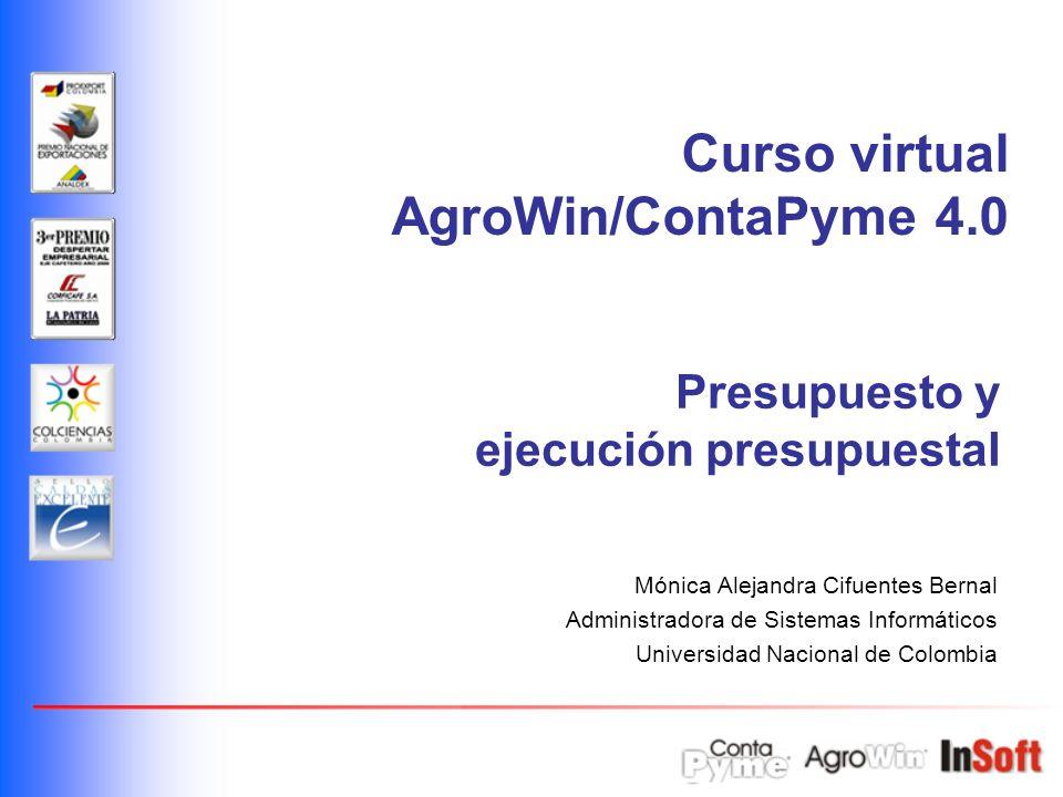 Curso virtual AgroWin/ContaPyme 4.0 Presupuesto y