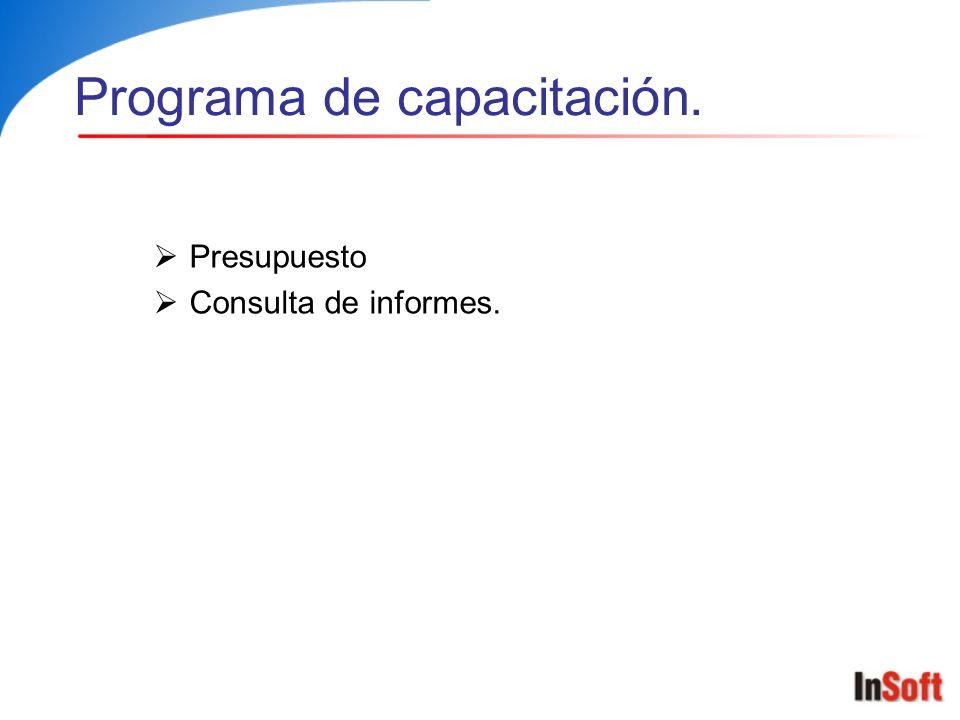 Programa de capacitación.