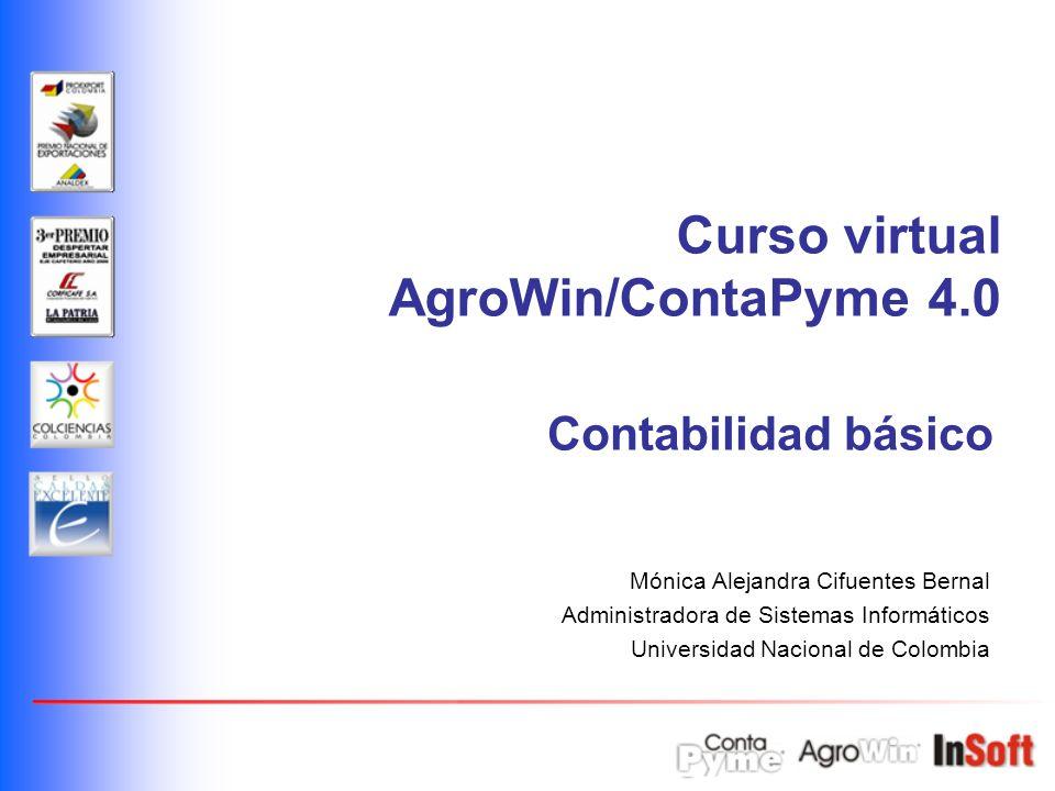 Curso virtual AgroWin/ContaPyme 4.0 Contabilidad básico