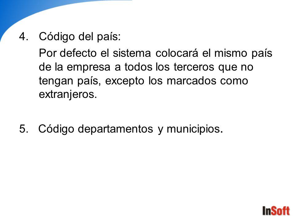 Código del país: