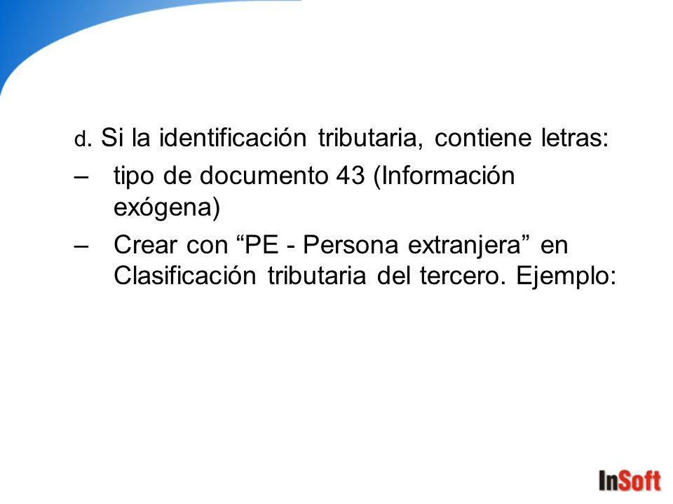 tipo de documento 43 (Información exógena)