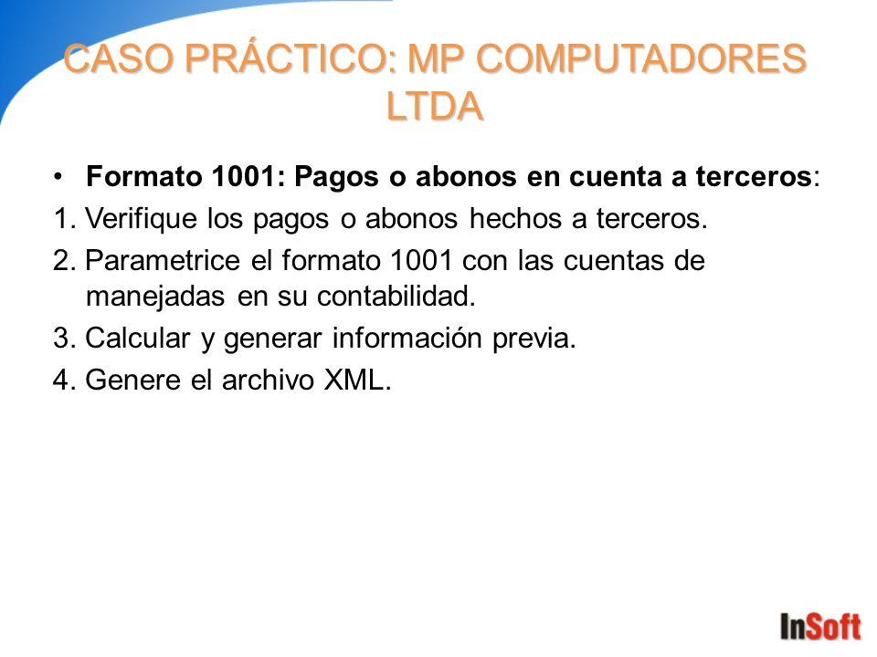CASO PRÁCTICO: MP COMPUTADORES LTDA