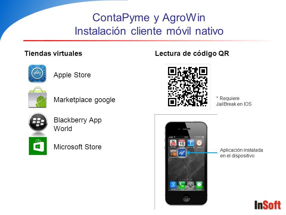 ContaPyme y AgroWin Instalación cliente móvil nativo