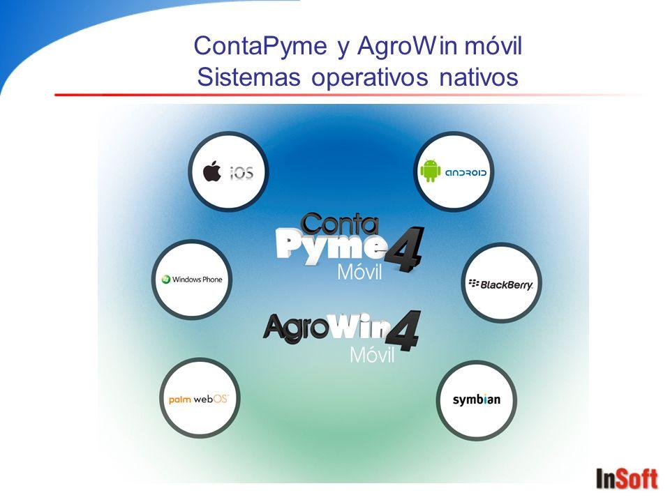 ContaPyme y AgroWin móvil Sistemas operativos nativos