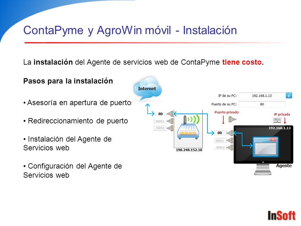 ContaPyme y AgroWin móvil - Instalación