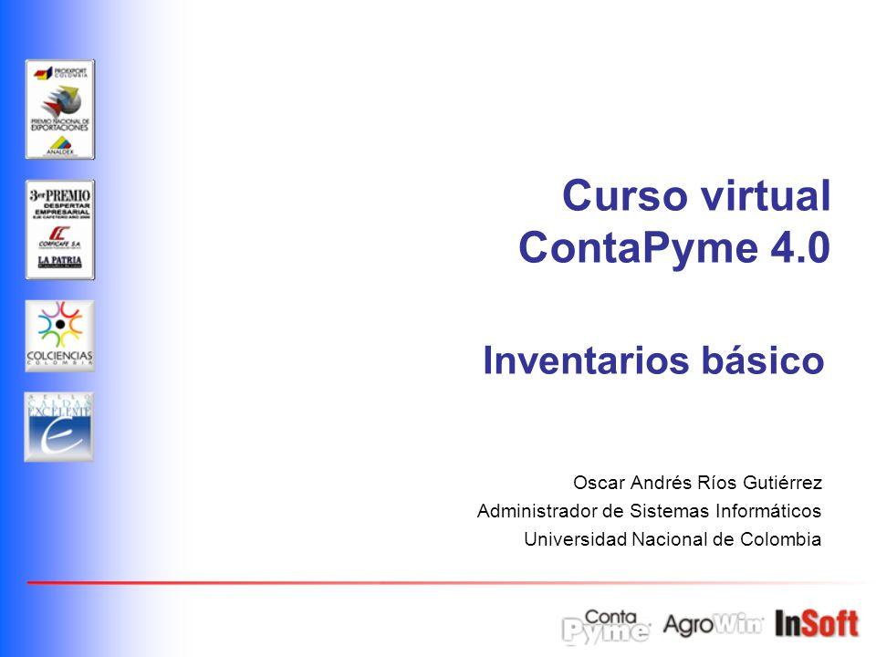 Curso virtual ContaPyme 4.0 Inventarios básico