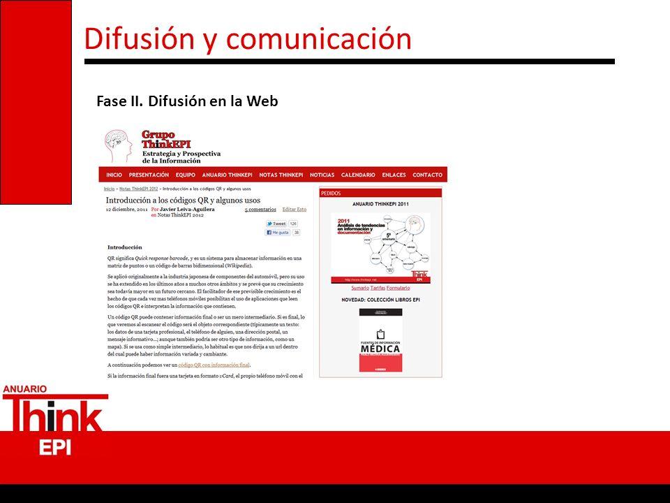 Difusión y comunicación